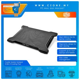 """Cooler Master Notepal X-Slim II Notebook Cooling Pad (Up to 15.6"""")"""