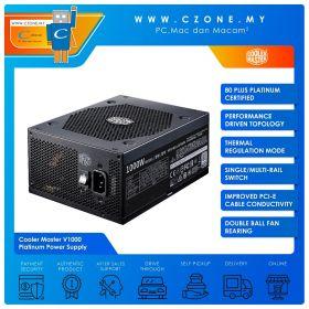 Cooler Master V1000 Platinum Power Supply (1000 Watts, 80plus Platinum, Full Modular)