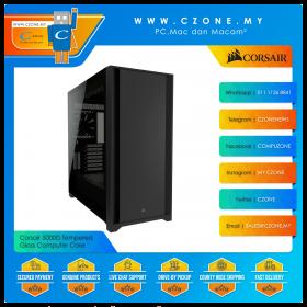 Corsair 5000D Tempered Glass Computer Case (ATX, TG, Black)