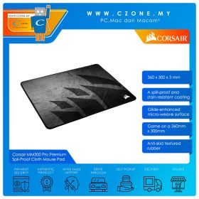 Corsair MM300 Pro Premium Spil-Proof Cloth Gaming Mouse Pad (Soft, Medium, 360 x 300 x 3 mm)