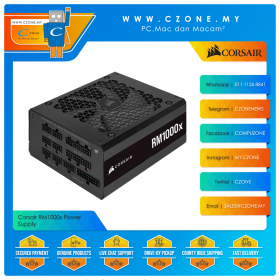 Corsair RM1000x Power Supply (1000 Watts, 80plus Gold, Fully Modular)