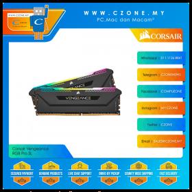 Corsair Vengeance RGB Pro SL 32GB (2x16GB) DDR4 3600MHz - Black (CMH32GX4M2Z3600C18)