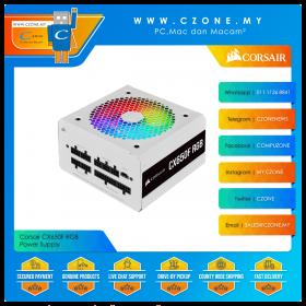 Corsair CX650F RGB Power Supply (650 Watts, 80plus Bronze, Fully Modular, White)