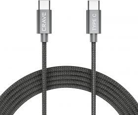 Crave Nylon Braided USB-C to USB-C 2.0 Cable