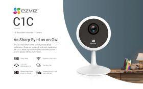 Ezviz C1C Indoor Wi-Fi Camera (720P, 110 Degree, WiFi-N, Two-Way Audio, Night Vision, MicroSD Up to 256GB)