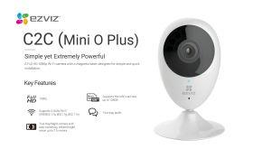 Ezviz C2C Mini O Plus Wi-Fi Indoor Camera (1080P, 135 Degree, WiFi-N, Two-Way Audio, Night Vision, MicroSD Up to 128GB)