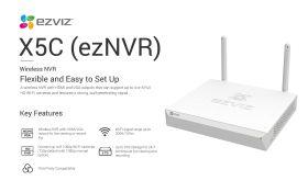 Ezviz X5C 4 Channel EZNVR Vault Live Wireless NVR With HDMI/VGA Output