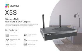 Ezviz X5S 8 Channel EZNVR Vault Live Wireless NVR With HDMI/VGA Output