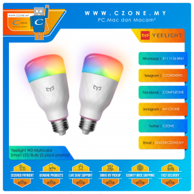 Yeelight Smart LED Bulb W3 E27 (Multicolor) 2 pack promo