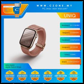 Uniq Aspen Braided Watch Band (Apple Watch 44/42mm, Grapefruit Pink)