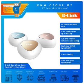 D-Link Covr Whole Home Mesh WiFi System (Dual Band-AC1200, 3 Pack)