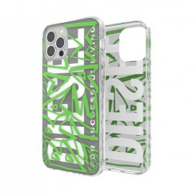 Diesel Graphic Snap Case Clear Aop Fw20 (iPhone 12 Pro Max, Black/Green)
