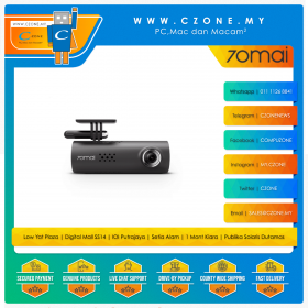 70mai Smart Dash Cam (1920x1080P, 130 Degree, G-Sensor, WiFi-N, Voice Control)