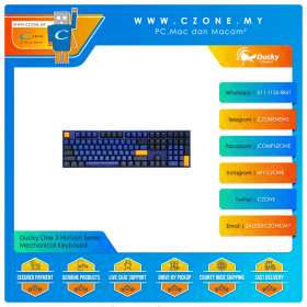 Ducky One 2 Horizon Series Mechanical Keyboard (Blue Color)