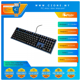 Ducky One 2 Midnight Series Mechanical Keyboard (Navy Color)
