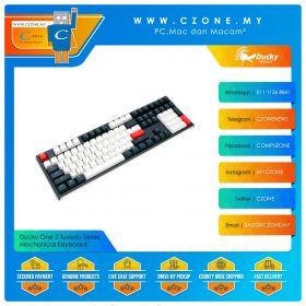 Ducky One 2 Tuxedo Series Mechanical Keyboard (Black/White Color)