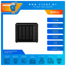 Synology DiskStation DS420+ NAS (4-bay, DC 2.0GHz, 2GB, GbE x2, Diskless)