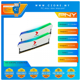 PNY XLR8 Gaming Epic-X RGB 32GB (2x16GB) DDR4 3200MHz - White (MD32GK2D4320016XRGBW)