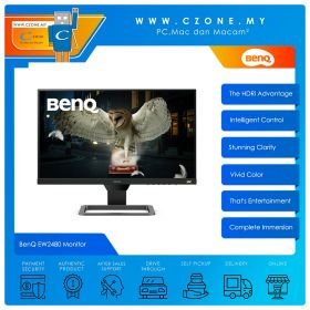 "BenQ EW2480 Monitor (23.8"", 1920x1080, IPS, 75Hz, 5ms, HDMIx3, Speakers, VESA)"