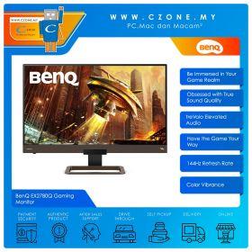"BenQ EX2780Q Gaming Monitor (27"", 2560x1440, IPS, 144Hz, 5ms, HDMI, DP, USB-C, Speakers, VESA)"