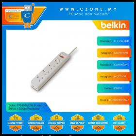 Belkin F9E410SA2M Economy Series 4 Surge Protector (4x UK Sockets, 2M)