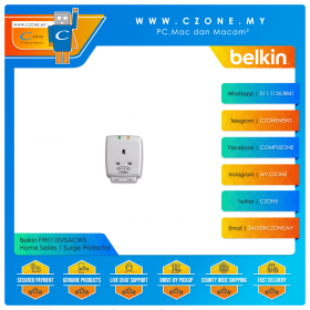 Belkin F9H110VSACWS Home Series 1 Surge Protector (1 UK Socket, Wall Outlet)