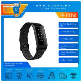 Fitbit Charge 4 Fitness Smartwatch Special Edition (Granite)