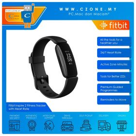 Fitbit Inspire 2 Fitness Tracker with Heart Rate (Black)