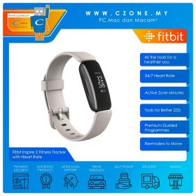 Fitbit Inspire 2 Fitness Tracker with Heart Rate (White)