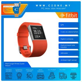 Fitbit Surge Fitness Super Watch (Large, Tangerine)