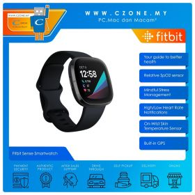Fitbit Sense Smartwatch (Carbon / Graphite Stainless Steel)