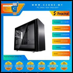 Fractal Design Define R6 USB-C TG Computer Case (EATX, ODD, TG, Blackout)