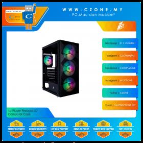 1st Player Firebase X7 Computer Case (ATX, 3x 140mm ARGB, 1x 120 ARGB, TG, Black)
