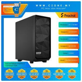 Fractal Design Meshify 2 Compact Dark Computer Case (ATX, Black)