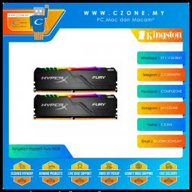 Kingston HyperX Fury RGB 64GB (2x32GB) DDR4 3200MHz - Black (HX432C16FB3AK2/64)