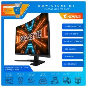 """Gigabyte G32QC A Curved Gaming Monitor (32"""", 2560x1440, VA, 165Hz, 1ms, HDMI x2, DP, USB x 2, VESA)"""