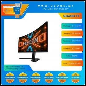 """Gigabyte G34WQC A Curved Gaming Monitor (34"""", 3440x1440, VA, 144Hz, 1ms, HDMI x2, DP x 2, SPK, VESA)"""