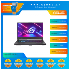 "Asus ROG Strix G15 G513QC HN096T Gaming Laptop - 15.6"", R7-5800H, 3.2GHz, 8GB, 512GB SSD, RTX3050, Win 10 (Electro Punk)"