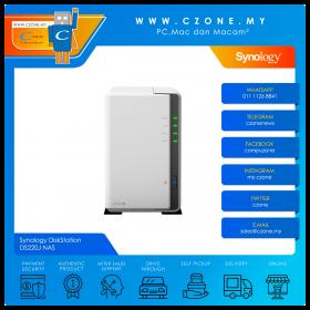 Synology DiskStation DS220J NAS (2-bay, DC 1.3GHz, 512MB, GbE x1, Diskless)