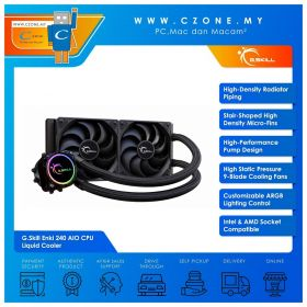 G.Skill Enki 240 AIO CPU Liquid Cooler (AMD, Intel, 2x 120mm Fan, RGB)