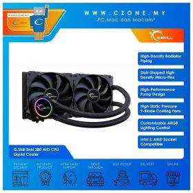 G.Skill Enki 280 AIO CPU Liquid Cooler (AMD, Intel, 2x 140mm Fan, RGB)