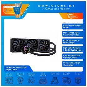 G.Skill Enki 360 AIO CPU Liquid Cooler (AMD, Intel, 3x 120mm Fan, RGB)