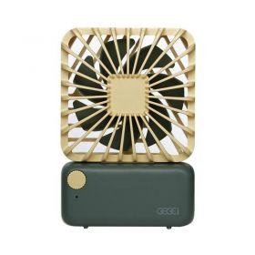 Gegei F3 Mini Portable Fan (Green/Yellow)