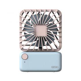 Gegei F3 Mini Portable Fan (Pink/Blue)