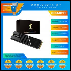 Gigabyte Aorus Gen4 7000s 1TB M.2 2280 NVMe SSD (R: 7000Mbps, W: 5000Mbps)