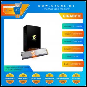 Gigabyte Aorus RGB 256GB M.2 2280 NVMe SSD (R: 3100Mbps, W: 1050Mbps)