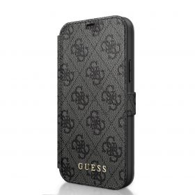 Guess Booktype Case With Stand & Magnetic Closure iPhone 12 Series Grey
