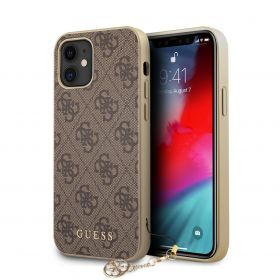 Guess Hard Case With Charm iPhone 12 Series Brown