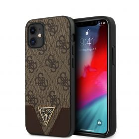 Guess Triangle Collection Hard Case iPhone 12 Series Brown
