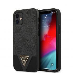 Guess Triangle Collection Hard Case iPhone 12 Series Grey